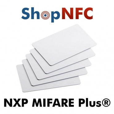 Tarjetas NFC blancas NXP MIFARE Plus®