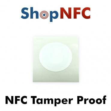 Etiqueta NFC Tamper Proof NTAG213 ø25mm adhesiva