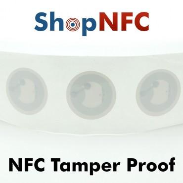 Tags NFC Tamper Proof NTAG213 ø25mm adhésifs