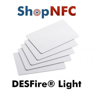 Tessere NFC in PVC bianche NXP MIFARE® DESFire® Light