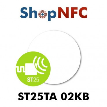 NFC Aufkleber ST25TA02KB Rund ø29mm