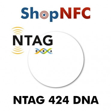 Etiqueta NFC NTAG424 DNA 29mm adhesiva