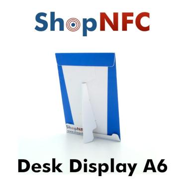 Cartel A6 Display con chip NFC NTAG213 - Impresión personalizada