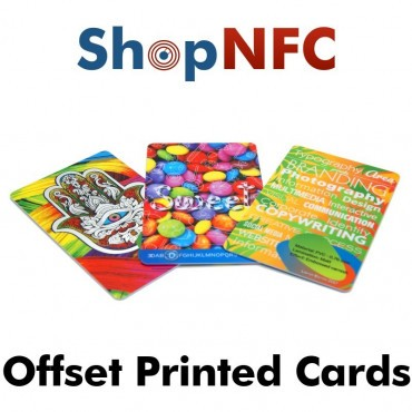 Tarjetas NFC en PETG personalizadas - Impresión Offset