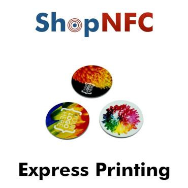 Tags NFC en PVC personnalisés - Impression Express