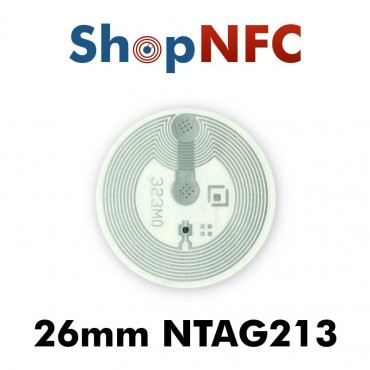 Etiqueta NFC NTAG213 26mm adhesiva