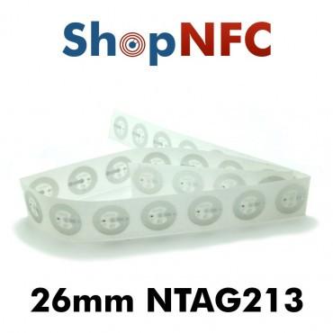 Tags NFC NTAG213 26mm adhésifs