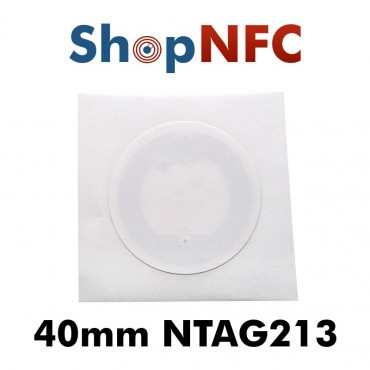 Tag NFC in carta NTAG213 40mm bianchi adesivi