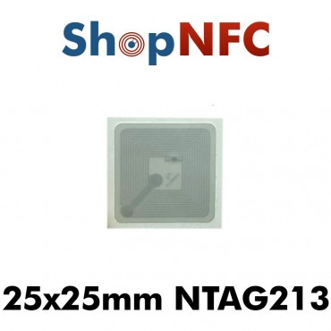 Confidex Links - Etiqueta NFC NTAG213 adhesiva IP68 25x25mm