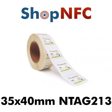 Confidex Links L - Tags NFC NTAG213 adhésifs IP68 35x40mm