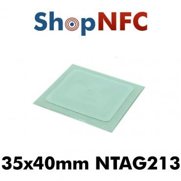 Confidex Links L - Tags NFC Anti-Métal NTAG213 adhésifs IP68 35x40mm