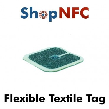 Tags NFC textiles flexibles NTAG212 30x30mm
