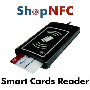Lector de tarjetas inteligentes con y sin contacto