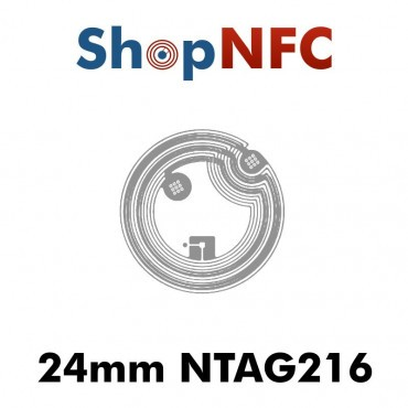NFC Stickers NTAG216 Round ø24mm