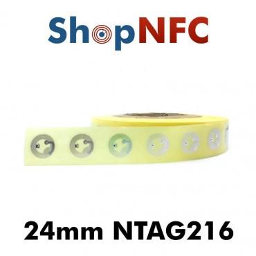 Tag NFC NTAG216 24mm adesivi