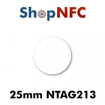 Tags NFC NTAG213 25 mm adhésifs