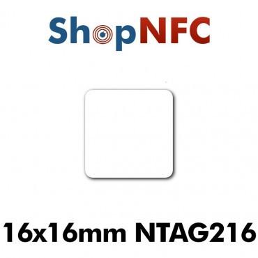 Etiqueta NFC antimetal NTAG216 16x16mm adhesiva