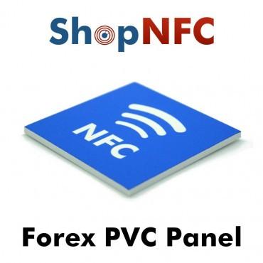 Panneau 6x6cm en PVC Forex avec NTAG213