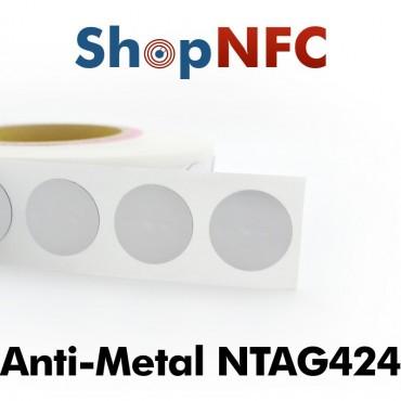 Etiqueta NFC antimetal NTAG424 DNA 29mm adhesiva