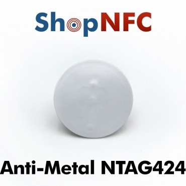 On-metal Round NFC Tags NTAG424 DNA ø29mm