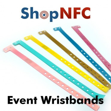 Disposable NFC Wristbands NTAG213 - Slim - Customizable