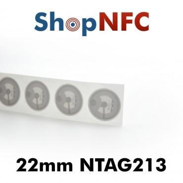 White NFC Stickers NTAG213 Round ø22mm