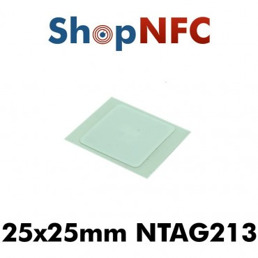 Confidex Links - Tags NFC NTAG213 adhésifs IP68 25x25mm