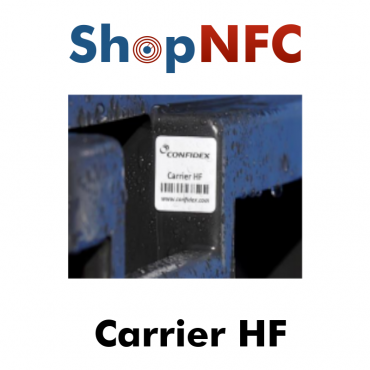 Confidex Carrier HF - Etiqueta NFC ICODE SLIX2 adhesiva IP68 25x25mm