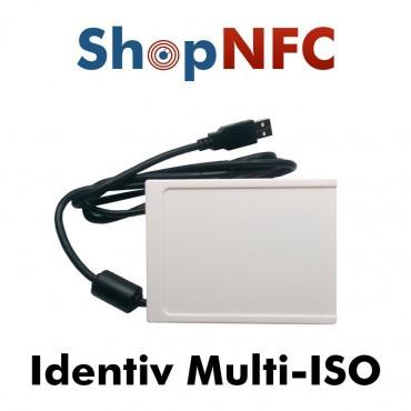 Identiv Multi-ISO - Lettore NFC con Emulatore Tastiera