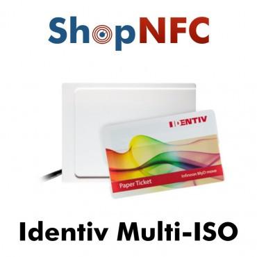 Identiv Multi-ISO - Lector NFC con emulación de teclado