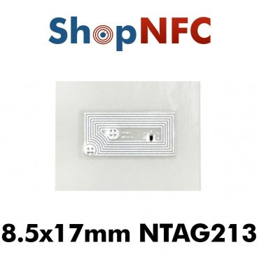 Tag NFC NTAG213 8,5x17mm adesivi