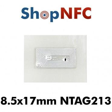 Tags NFC NTAG213 8,5x17mm adhésifs