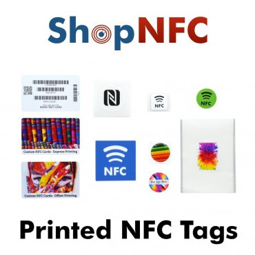 NFC Kit with printed sample products