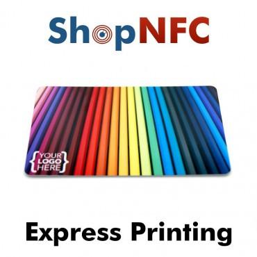 Tessere NFC in PVC bianche NXP MIFARE® DESFire® EV2 2k/4k/8k