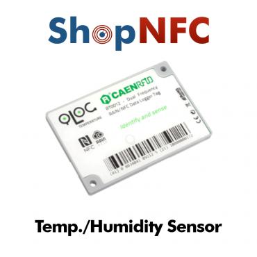 Sensor de temperatura y humedad NFC/UHF con registrador de datos