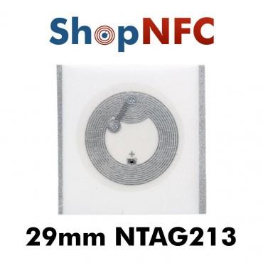 Tags NFC NTAG213 IP67 29mm adhésifs
