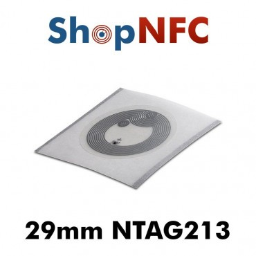 Tag NFC NTAG213 IP67 29mm adesivi