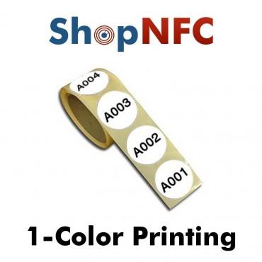 Tags NFC NTAG213 IP67 29mm en papier adhésifs