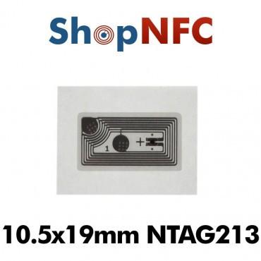 Tags NFC NTAG213 10,5x19mm adhésifs