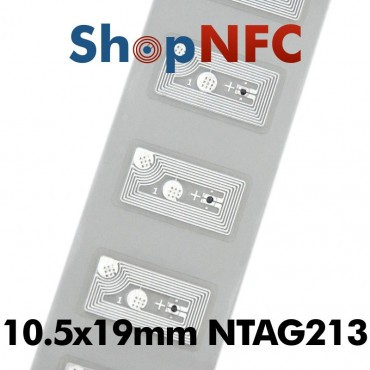 Tag NFC NTAG213 10,5x19mm adesivi