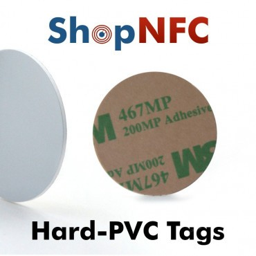 Etiqueta NFC NTAG213 30mm adhesiva de PVC