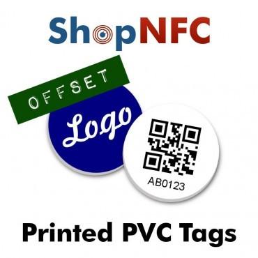 Tags NFC NTAG213 30mm adhésifs en PVC