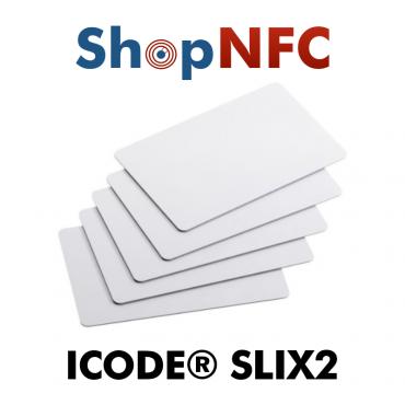 Cartes NFC en PVC NXP ICODE® SLIX2