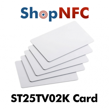 Tarjetas NFC en PVC ST25TV02K