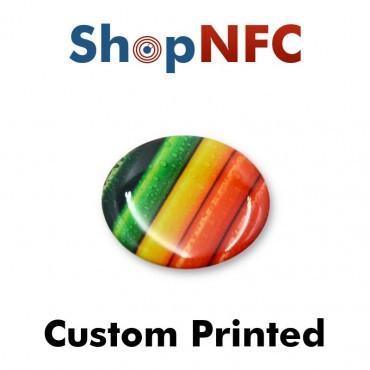 Tags NFC résinés 29mm adhésifs