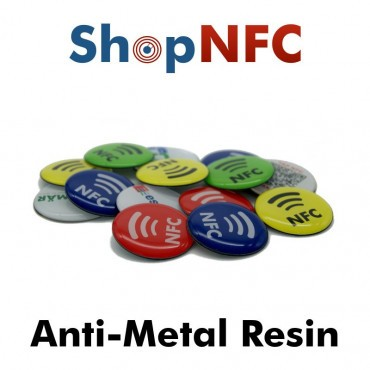 Tag NFC schermati resinati 29mm adesivi