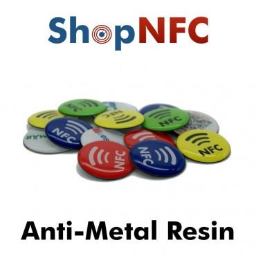Tags NFC Anti-Métal résinés 29mm adhésifs