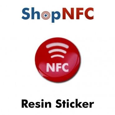 Etiqueta NFC resinada 29mm adhesiva