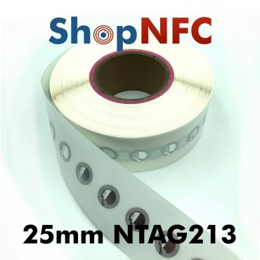NFC Stickers NTAG213 Round ø25mm