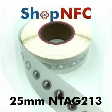 Tags NFC NTAG213 25mm adhésifs